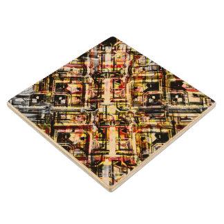 Palacio andino posavasos de madera