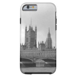 Palacio blanco negro de Westminster Funda De iPhone 6 Tough