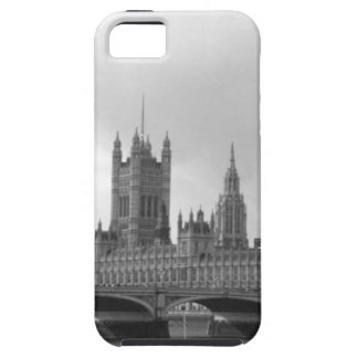 Palacio blanco negro de Westminster iPhone 5 Funda