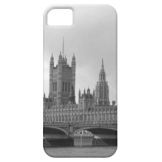 Palacio blanco negro de Westminster iPhone 5 Fundas