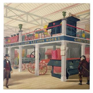 Palacio cristalino, la corte agrícola (coloreada l azulejo cuadrado grande