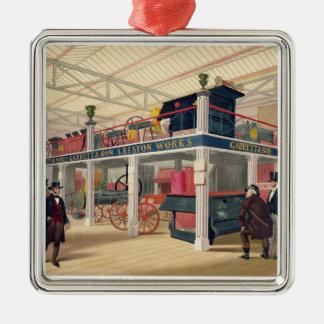 Palacio cristalino la corte agrícola coloreada l ornamento para arbol de navidad