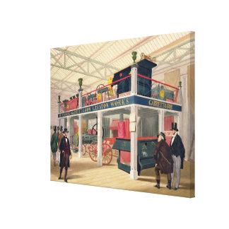 Palacio cristalino, la corte agrícola (coloreada l lona envuelta para galerias