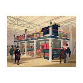 Palacio cristalino, la corte agrícola (coloreada l postales