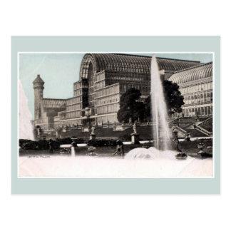 Palacio cristalino Londres de la arquitectura del Tarjeta Postal