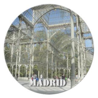 Palacio cristalino, placa de Madrid Plato