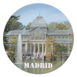 Palacio cristalino, placa de Madrid Plato De Cena