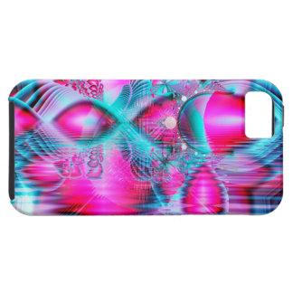 Palacio cristalino rojo de rubíes, joyas abstracta iPhone 5 carcasa