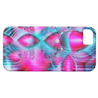 Palacio cristalino rojo de rubíes, joyas abstracta iPhone 5 Case-Mate protector