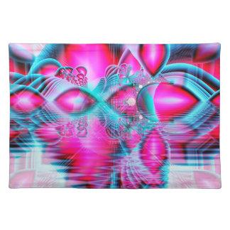 Palacio cristalino rojo de rubíes joyas abstracta manteles individuales