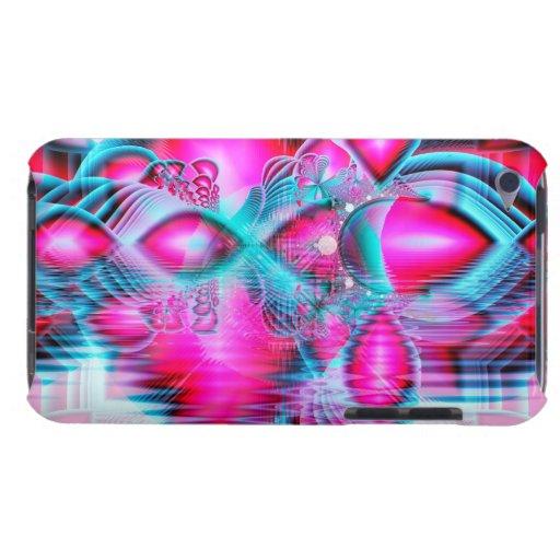 Palacio cristalino rojo de rubíes, joyas carcasa para iPod