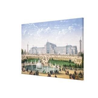 Palacio cristalino, Sydenham, c.1862 (litho del co Impresiones En Lienzo Estiradas