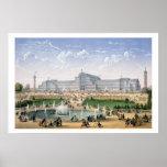 Palacio cristalino, Sydenham, c.1862 (litho del co Posters