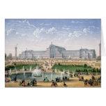 Palacio cristalino, Sydenham, c.1862 (litho del co Tarjeta De Felicitación