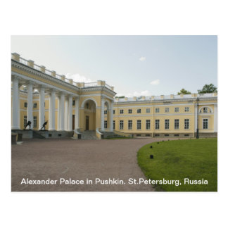 Palacio de Alexander en Pushkin. St Petersburg, Ru Tarjetas Postales