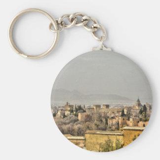 Palacio de Alhambra, Granada, España Llavero Redondo Tipo Pin
