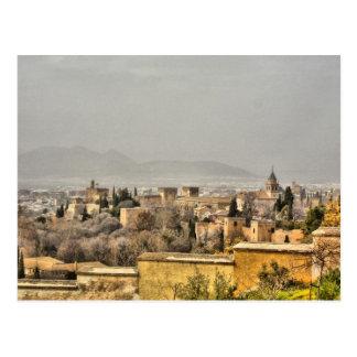 Palacio de Alhambra, Granada, España Tarjetas Postales