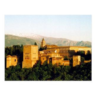 palacio de Alhambra Tarjeta Postal