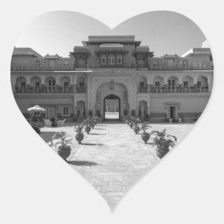 Palacio de B&W Chomu Pegatina En Forma De Corazón