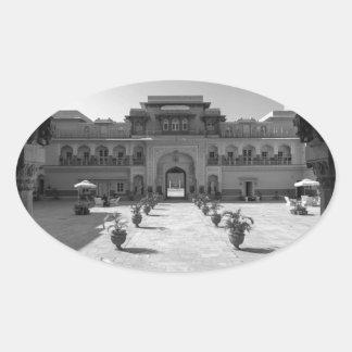 Palacio de B&W Chomu Pegatina Ovalada