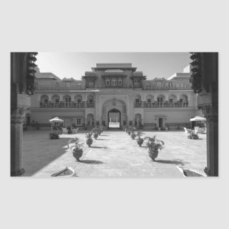 Palacio de B&W Chomu Pegatina Rectangular