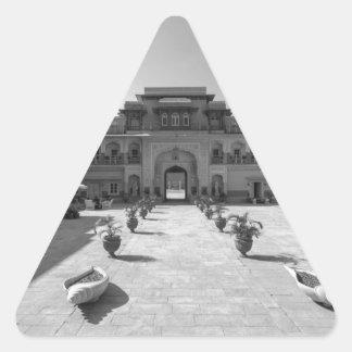 Palacio de B&W Chomu Pegatina Triangular