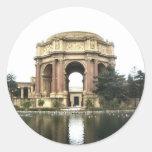 Palacio de bellas arte etiquetas redondas