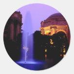 Palacio de bellas arte pegatina redonda