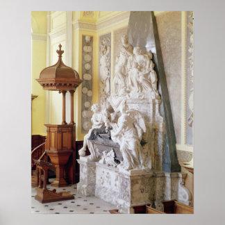 Palacio de Blenheim, la capilla, c.1705 Poster