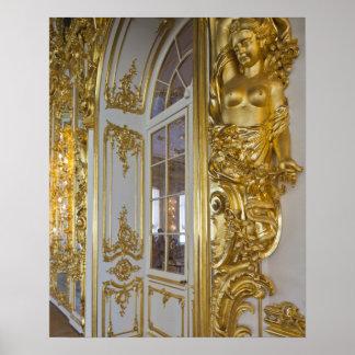 Palacio de Catherine, detalle del gran pasillo 2 Impresiones