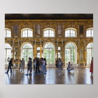 Palacio de Catherine, detalle del gran pasillo 3 Impresiones