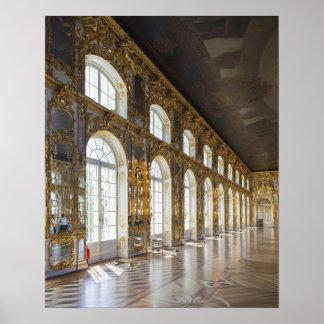 Palacio de Catherine, detalle del gran pasillo Posters