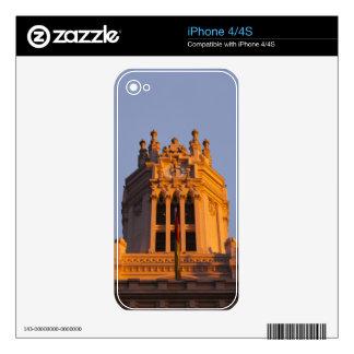 Palacio de Communicaciones, tower detail, sunset Decals For iPhone 4