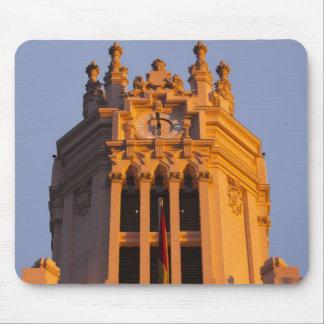 Palacio de Communicaciones, tower detail, sunset Mouse Pad