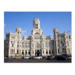Palacio de Comunicaciones en Madrid Tarjeta Postal
