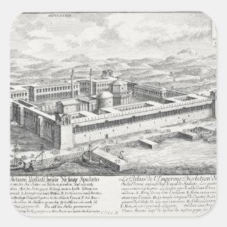 Palacio de Diocletian (245-313), fractura, Pegatina Cuadrada