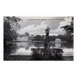 Palacio de Fontainebleau, vintage 1910 de Francia Impresiones