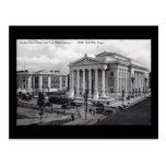Palacio de Justicia, biblioteca, vintage 1912 de Postal