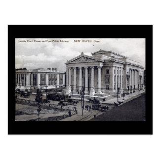 Palacio de Justicia, biblioteca, vintage 1912 de Tarjetas Postales