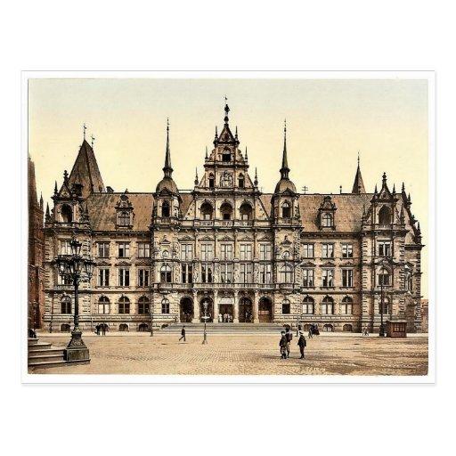 Palacio de Justicia, clas de Wiesbaden, Hesse-Nass Tarjeta Postal