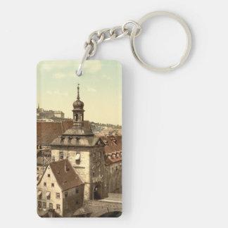Palacio de Justicia de Bamberg, Baviera, Alemania Llavero Rectangular Acrílico A Doble Cara