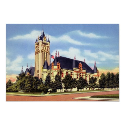 Palacio de Justicia de Spokane Washington Poster