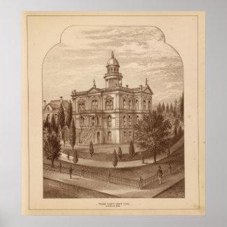 Palacio de Justicia del condado de Tulare Póster