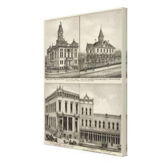 Palacio de Justicia, Kansas Lona Envuelta Para Galerias