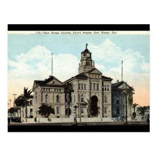 Palacio de Justicia San Diego California 1921 Postal
