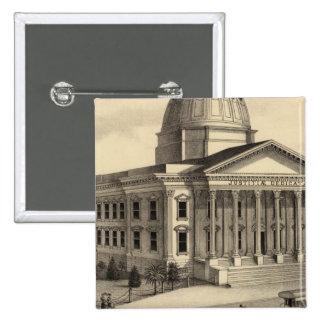 Palacio de Justicia, Santa Clara Co Pin Cuadrada 5 Cm