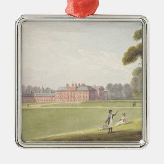 Palacio de Kensington Adorno Cuadrado Plateado