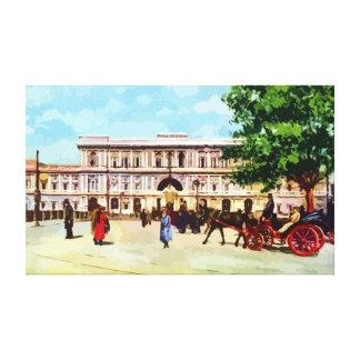 Palacio de la acuarela de Roma del vintage de la Lona Estirada Galerías