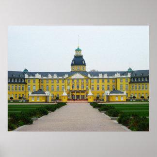 Palacio de la ciudad de Karlsruhe Póster