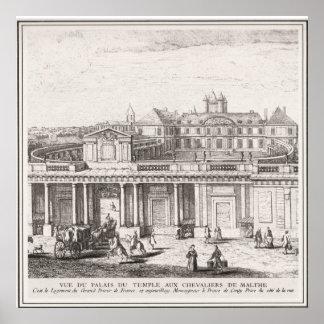Palacio de la imagen del vintage de Templar de los Póster